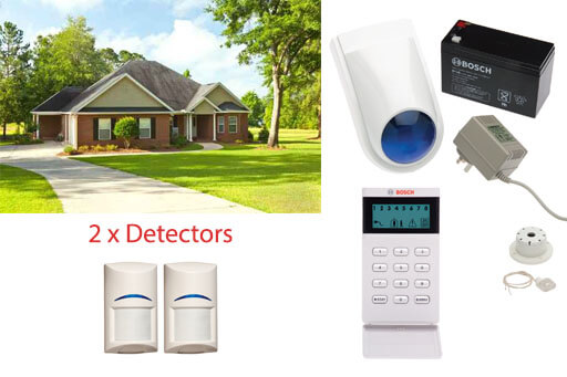 wired single level home security system 2 detectors
