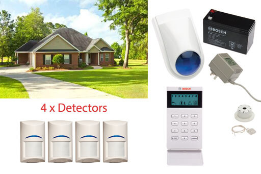 bosch hard wired security alarm system single level home 4