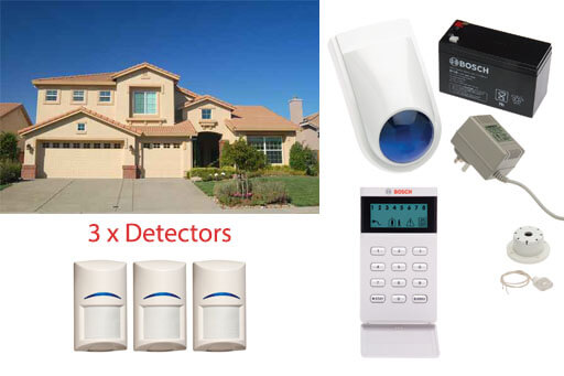 bosch wireless security alarm system two level home 3 detectors self monitored. Black Bedroom Furniture Sets. Home Design Ideas