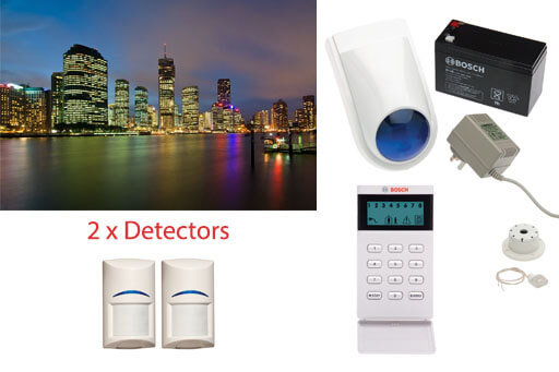 business security alarm system 2 detectors