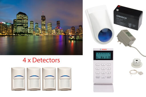 business security alarm system 4 detectors