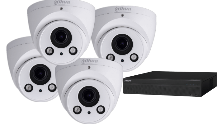 four cameras and network record